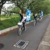 久しぶりの「自転車遊説」で街中を疾走!久喜市議会選挙は「きし信智」に一票を