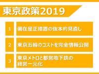 地下鉄の経営一元化等の「東京重点政策」発表。燃え上がるほど強い覚悟を持って、実現に挑む