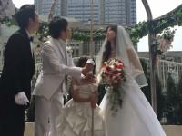 大安の結婚式にてご報告。新しい命を授かりました